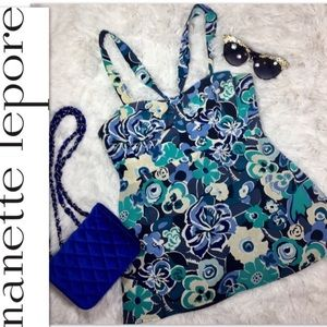 Nanette Lepore Floral Silk Halter Top Sz 2